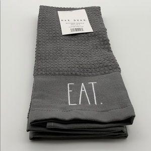"Rae Dunn ""EAT DRINK"" Kitchen Towels 2pk"